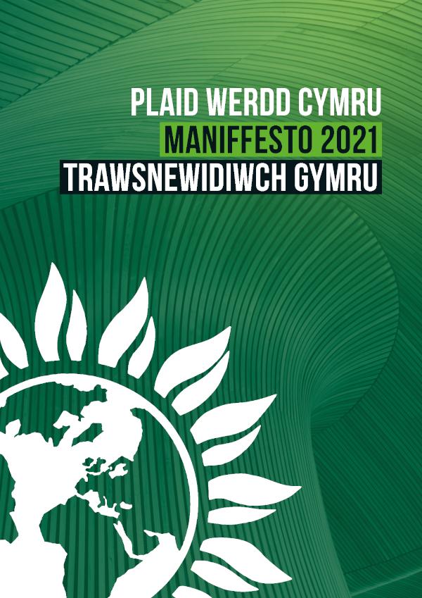 Cover Plaid Werdd 2021 Senedd Maniffesto Cymraeg