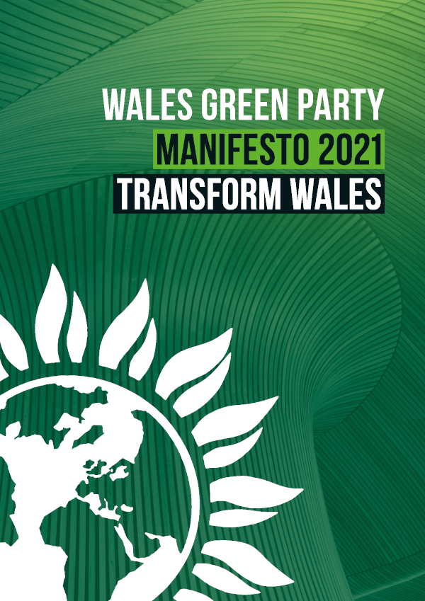 Cover Wales Green Party 2021 Senedd Election Manifesto English